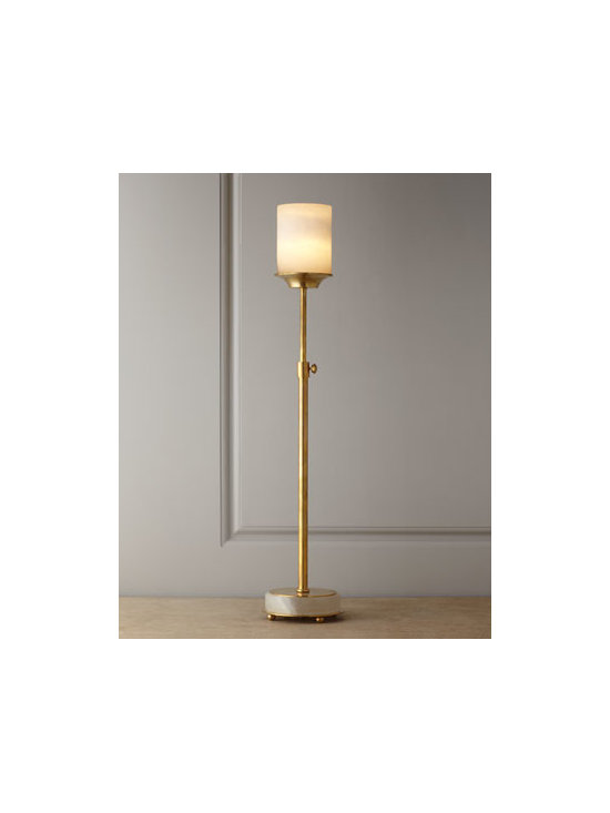 John-Richard Collection - John-Richard Collection Adjustable Buffet Lamp - Slender enough for the narrowest of spaces, this buffet lamp is also adjustable, so you can have light just where you need it. Use in multiples at staggered heights to add drama and interest to a buffet or console. From the John-Richard Collection. Ha...