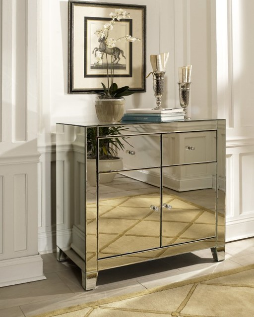 Harlow Mirrored Cabinet By Glam Furniture Contemporary Furniture