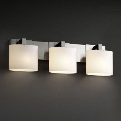 Justice Design Group Fusion FSN-8923-30-OPAL-NCKL Modular 3-Light Bath Bar - Nic modern-bathroom-vanity-lighting