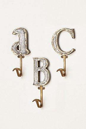Marquee Letter Hook contemporary-hooks-and-hangers