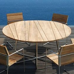 Modern Patio Table : Mamagreen Sally Outdoor Teak Dining Table Set