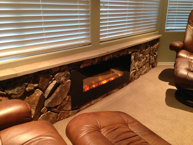 Vistancia Montis Master Bedroom Electric Fireplace Rustic Indoor Fireplaces Phoenix By