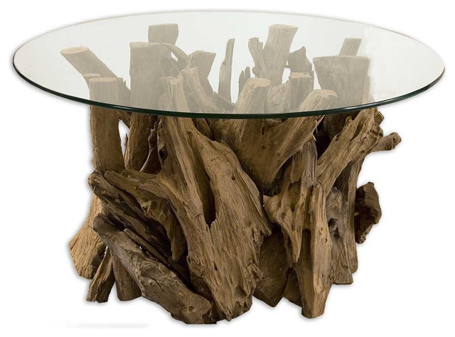 Driftwood Cocktail Table eclectic-coffee-tables