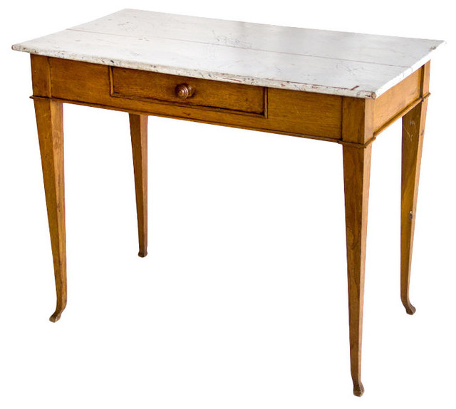 Antique French Oak Side Table Traditional Side Tables And End Tables Calgary By