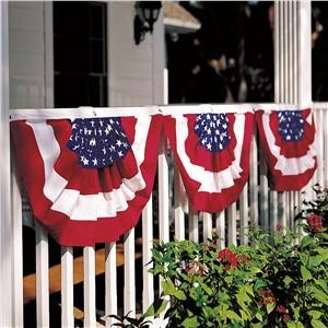 Classic cotton flag bunting traditional flags and for American flag decoration ideas