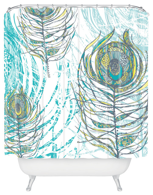 Rachael Taylor Peacock Feathers Shower Curtain