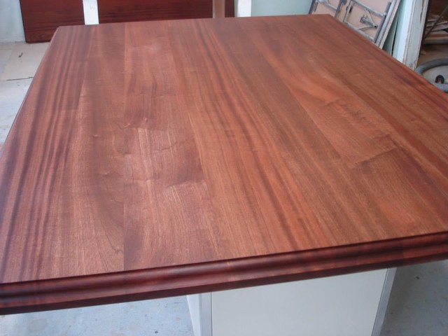 MAKING A SOLID WOOD COUNTERTOP - Traditional - Kitchen Countertops ...