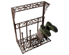 Cast Iron Boot Rack traditional-shoe-storage