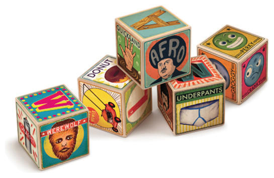 XYZ Alphabet Blocks contemporary kids toys