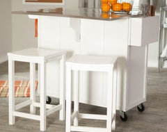 The Randall Stationary Kitchen Island with Optional Stools contemporary kitchen islands and kitchen carts