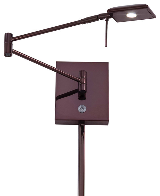 Contemporary Wall Lamps Swing Arms : George Kovacs P4328-631 1 Lt Led Swing Arm Wall Lamp contemporary-swing-arm-wall-lamps