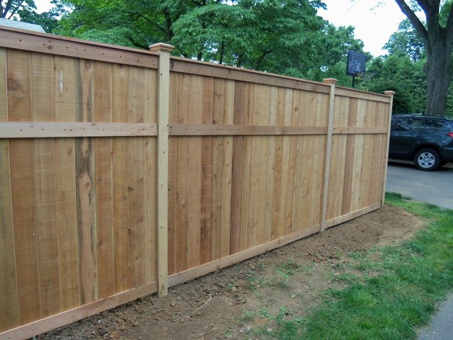 Red Cedar Fence Traditional Other Metro By Lowes Of