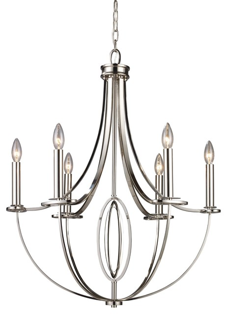 Six Light Chandelier transitional-chandeliers