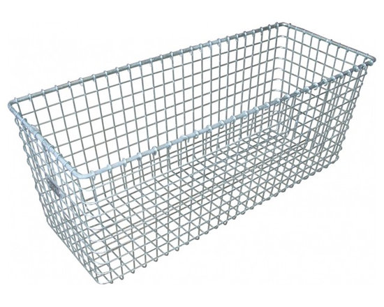 "Locker Basket - 1940's vintage ""kaspar wire works"" metal basket, already used but still looks new."
