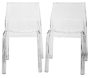 Minotti Acrylic Modern Dining Chairs, Clear - Modern - Dining Chairs - by Sears