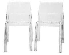 Minotti Acrylic Modern Dining Chairs, Clear modern-dining-chairs