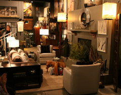The Elements' Fall and Holiday Decorating Seminar transitional-living-room-chairs