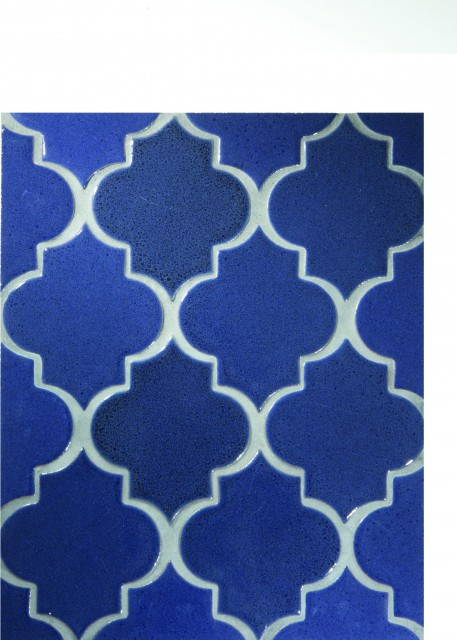 Debris Series Ogee in Sapphire contemporary-tile