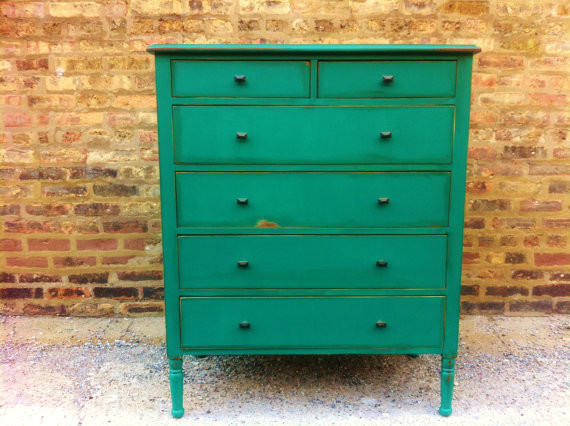 Vintage Dresser, Emerald Green by Mint Home contemporary