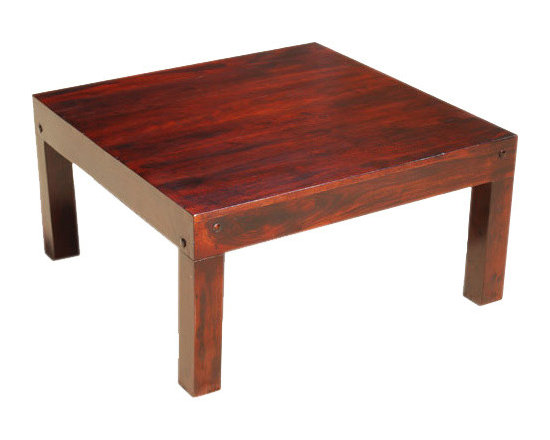 Sierra Living Concepts - Sierra Contemporary Square Solid Wood Sofa Coffee Table Furniture - Enjoy classic handcrafted quality in a contemporary design with our Sierra Contemporary Square Solid Wood Sofa Coffee Table Furniture. This sleek accent table is constructed from solid Indian Rosewood, a top quality hard wood. The clean lines and simple structure makes it a perfect choice for contemporary or eco-friendly décor.