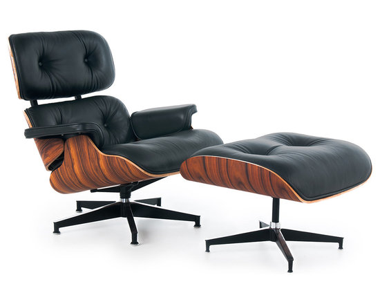 Rove Concepts - Eames Lounge Chair & Ottoman, Siena Black, Rosewood Palisander - Made from full grain Italian aniline leather, this premium Eames Lounge Chair reproduction is the creme de la cream of the crop when it comes to chairs that are stylish as well as comfortable. Italian Aniline leather is incredibly supple, and develops a beautiful patina and softness over time. This makes this Eames lounge chair a beautiful investment for your home or office anytime, knowing it will perform wonderfully and look beautiful as time goes on.