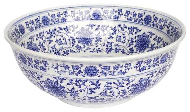 Ming Dynasty Decorative Porcelain Sink asian-bathroom-sinks