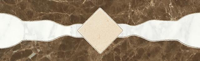 Catarina  Coliseum White / Roman Gold / Etruscan Brown Geometric Accent.