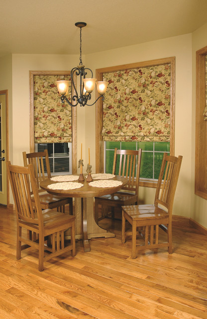 Mission style white oak dining room furniture craftsman dining room cleveland by - Mission style dining room furniture ...