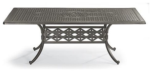 Carlisle Rectangular Cast-top Outdoor Dining Table in Gray Finish - Frontgate, P traditional-outdoor-tables