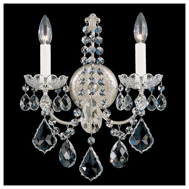 Wall Sconces Crystal : Crystal Schonbek New Orleans Collection 2-Light Crystal Wall Sconce - Traditional - Wall ...