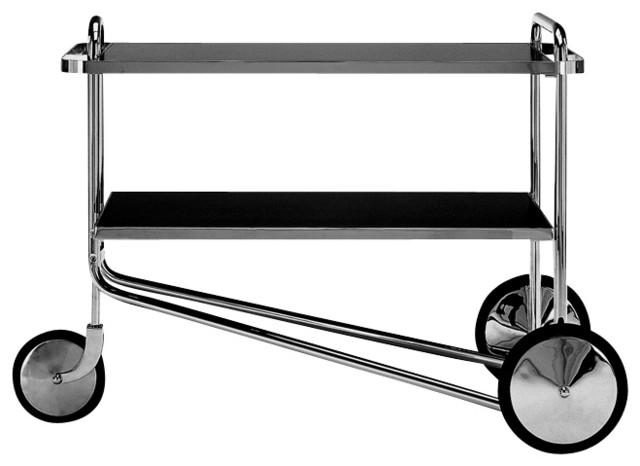 Breuer Cart, Black Laminate modern-bar-carts