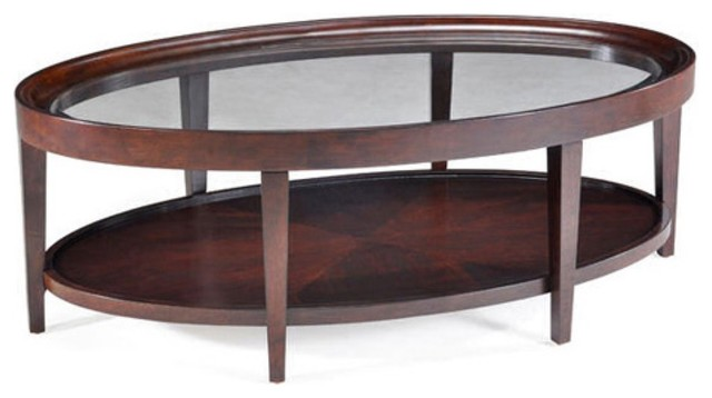 Carson Wood Oval Coffee Table Modern Coffee Tables By Hayneedle