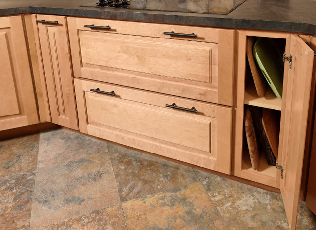 Tray base cabinet kitchen cabinetry for Bottom corner kitchen cabinets