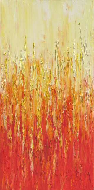 Yellow Orange Red Fire by Olena Bacas Art modern artwork