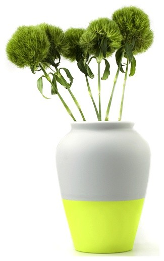 Yellow Fluo Vase eclectic vases