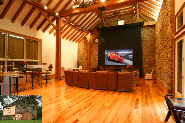... rustic-home-theater