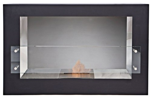 The Bio Flame Argento – Single Sided Bio-Ethanol Fireplace contemporary-fireplaces