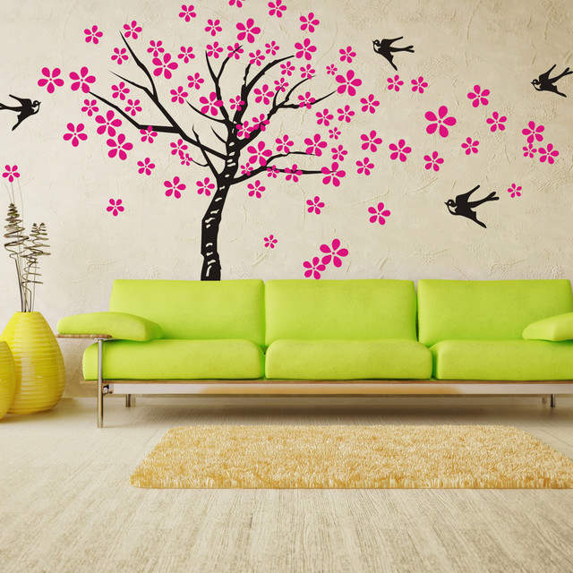 Tree Wall Decals Birds Nature Nursery Children
