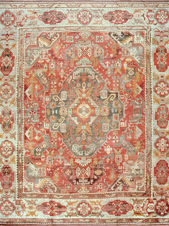 "Antique Turkish Oushak Carpets - #18982 antique Turkish Oushak 14'0"" x 16'6"""