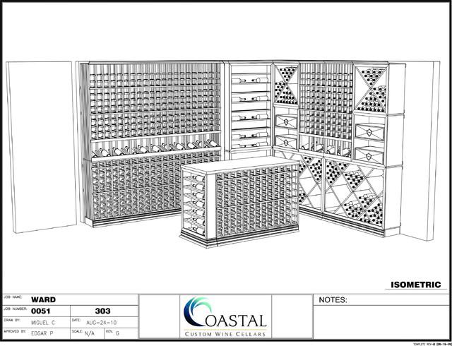 Custom Wine Cellars Boston Massachusetts 3D Rendering traditional-rendering