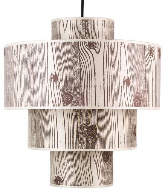 Deco Deluxe Pendant Lamp, Light Faux Bois contemporary-pendant-lighting