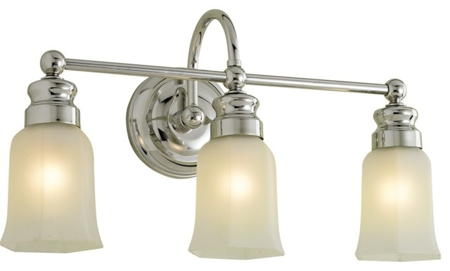 Country Cottage Emily 20 1 2 Wide Chrome Bath Triple Light Fixture Traditional Bathroom