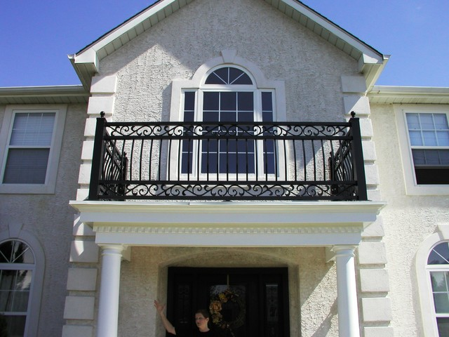 Portico Railing, Interior Railing and Front Doors in Columbus NJ - Eclectic - other metro - by ...