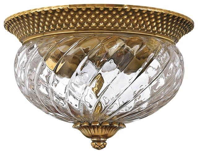 Hinkley Lighting 4102BB Plantation Traditional Flush Mount Ceiling Light traditional-ceiling-lighting