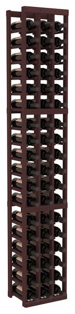 3 Column Standard Wine Cellar Kit in Redwood, Walnut contemporary-wine-racks