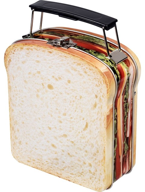 Sandwich Lunch Box eclectic food containers and storage