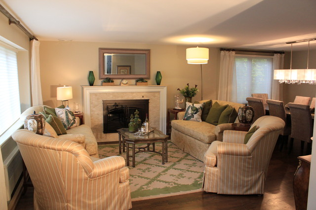 needham living room decor and fireplace update