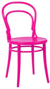 Thonet Chair, Hot Pink modern-chairs