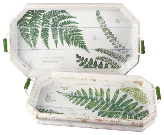 Belvedere Ferns Transitional Tray 2 Sets Pack of 2 per