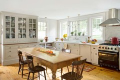 Vintage-Look Gathering Spot Kitchen | From Fixer-Upper to Refined Farmhouse | Th